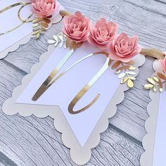 Made to match the I posted yesterday ✨✨✨ 21st Birthday Decorations, Birthday Parties, Wedding Decorations, Blush Wedding Theme, Pink Happy Birthday, First Communion Party, Diy And Crafts, Paper Crafts, Basic Embroidery Stitches