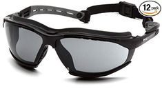 Pyramex Isotope Goggles Black Frame w/Gray A/F Lens Pair) Hearing Protection, Eye Protection, Eyewear, Lens, Pairs, Sunglasses, Grey, Best Deals, Frame