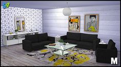 Leon Living Set by Mango Sims Sims 2, Sims 4 Blog, Live Set, Living Room Sets, Floor Chair, Lounge, Couch, Mango, Furniture