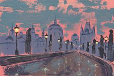 Jacek Sikora ( #Siccora ) DAWN AT CHARLES BRIDGE, 2012, Acrylic on canvas, 20 X 30  cm #art #contemporary #fineart #canvas #abstract #abstractart #abstractpainting #abstraction #painting #contemporaryart #deep #design #loveart #visualartist #modern #buyart #abstract #impression