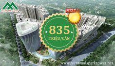 Chung cư Xuân Mai Spark Tower, Xuan Mai Spark Tower 835tr/căn: Bảng báo giá căn hộ Xuan Mai Sparks Tower