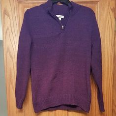 Purple Sweater Purple Sweater with collar zipper Sweaters