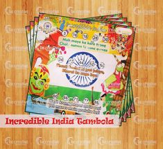 Republic Day is just round the corner. Buy exciting Incredilble India Tambola from www.becreativegames.com for your Republic Day theme parties.  #kittypartygames #themetambolaticket #oneminutegames #party #partygames #gamestoplay #fungames #fungamesforadults #housie #housieticket #themehousie #ladieskitty #kittygames #papergames Shop online or call at 9568021000 or 9927043141.