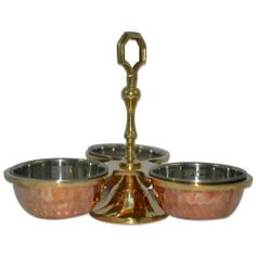 Copper Table Serveware Dishes Condiment Pickle Holder 3 Joint Bowls by DronaCraft, http://www.amazon.co.uk/dp/B00G702E2Y/ref=cm_sw_r_pi_dp_Va-6sb1P0BR3M