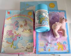 My Little Pony 1980s Cartoon | Vintage MLP My Little Pony Ponies Puzzle Jigsaw, Thermos, Chore Chart ...