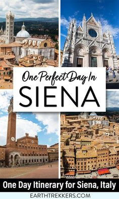 One day in Siena, Italy. A complete itinerary for where to go, what to do, best restuarants to try, and where to sleep. See the Duomo, climb the Torre del Mangia, and explore the historic old town.