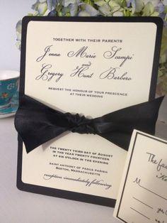 Ivory and Black Formal Wedding Invitation by TakeitPersonallybyM, $100.00