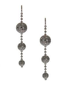 Boucles d'oreilles Shamballa Jewels http://www.vogue.fr/joaillerie/shopping/diaporama/or-noir-pendants-du-soir-boucles-d-oreilles-diamants-noirs-de-grisogono-as29/14892/image/812531#!boucles-d-039-oreilles-or-noir-diamants-noirs-shamballa-jewels