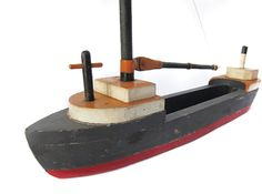 Folk Art Sailboat with String Rigging