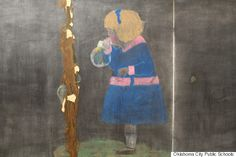 100-Year-Old Chalkboard Drawings Discovered At A School Are Fascinating Time Capsule