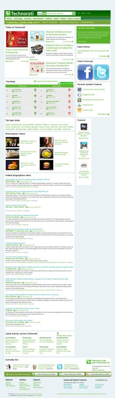 Technorati, authority site for top blogs
