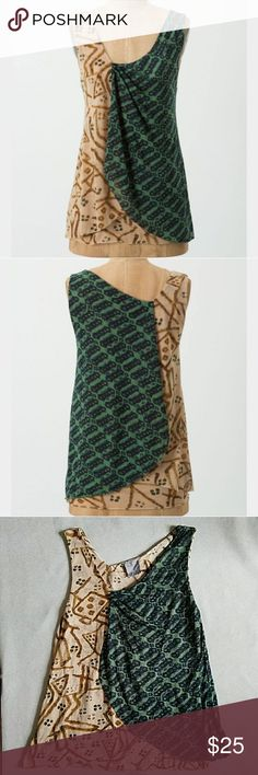 "Anthro Vanessa Virginia Layered Foliage Shell Size small. Purchased from Anthropologie.  Excellent condition. Layered tank with asymmetrical design. Length is 26"". Anthropologie Tops"
