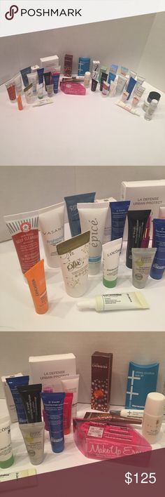 38 HIGH END SKIN CARE PRODUCTS! AMAZING VALUE!!! MASSIVE BUNDLE OF 38 NEW HIGH END SKINCARE PRODUCTS! DR.BRANT, GLAMGLOW, SHISEIDO, EMBRYOLISSE, EPICE, INDIE LEE, VASANTI, FIRST AID BEAUTY, CLARISEA, TATCHA, TARTE, CLARINS, COTZ, REPRCHAGE, OLE HENRIKSEN, JUARA, FOREO, ORIGINS, DR. JART+, REAL CHEMISTRY, MAKE UP ERASER, HEY HONEY, OLIVE FACE, DERMALOGICA, LUZERN, MD SOLAR SCIENCE, DR. DENNIS GROSS, LANCASTER, JUICE BEAUTY, MARCELLE, CLINIQUE, BALANCE ME, EAU THERMALE, LANCOME & LANEIGE…