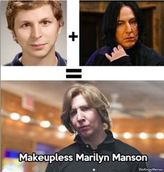 michael cera plus severus snape equals makeupless marilyn manson