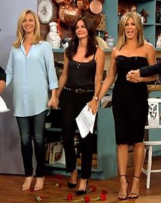 Friends - 'The Girls' from Friends reunited on Jimmy Kimmel
