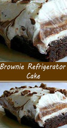 Cold Desserts, Frozen Desserts, Chocolate Desserts, Easy Desserts, Delicious Desserts, Yummy Food, Tasty, Sweets Recipes, Brownie Recipes