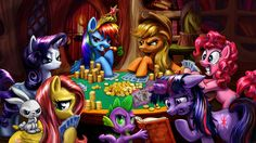 They're ponies... and they're PLAYING POKER! Ahahahahahaha! /simpsons