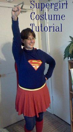 A tutorials from A Moving Tale on making a wearable mom-friendly Supergirl costume  sc 1 st  Pinterest : make your own supergirl costume  - Germanpascual.Com