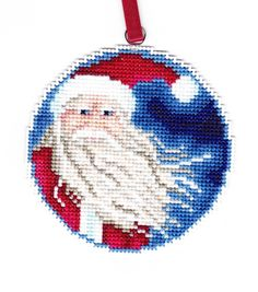 Santa Counted Cross Stitch chart