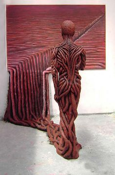 Michal Trpak (1982) - 2007, Escape into reality. It combines painting with sculpture.
