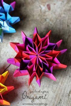 Origami-Feuerwerk - Ein Schweizer Garten