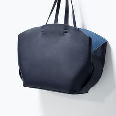 ZARA - SHOES & BAGS - SHOPPER BAG WITH CONTRAST INTERIOR