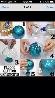 DIY Christmas ball ornament