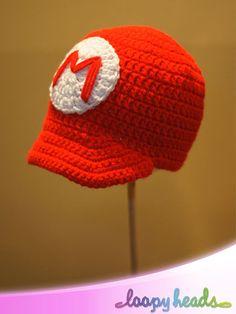Super Mario Bros Inspired Hats Mario Luigi or Toad by LoopyHeads, $18.00