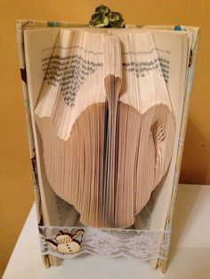 Teapot Folded Book Art **Pattern** Book Folding Book Origami Tea Party Free instructions