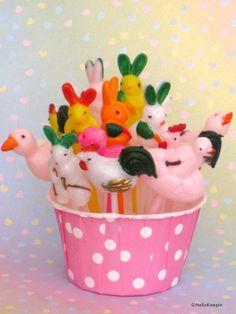 Vintage Easter Cupcake Picks