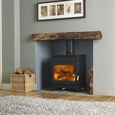 Ideas For Wood Burning Stove Living Room Fireplace Inserts - Home Decor Wood Burner Stove, Wood Burner Fireplace, Inglenook Fireplace, Home Fireplace, Fireplace Inserts, Living Room With Fireplace, Fireplace Design, New Living Room, Fireplace Ideas