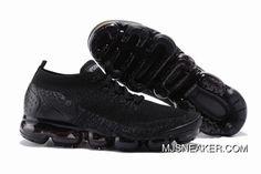 Nike Air VaporMax Flyknit 2 All Black Women New Year Deals