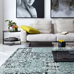 I love this FLOR pattern...and with 2 boys, a dog & a cat...it only makes sense to use replaceable square carpeting! #florptw