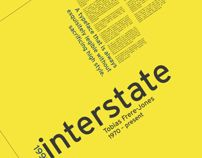Font Study: Interstate by Lexi Griffith, via Behance