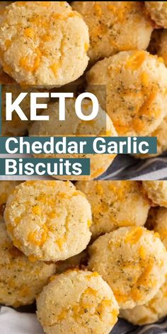 Keto Cheddar Garlic Biscuits - Keto Recipes - Ideas of Keto Recipes - You will love these easy Keto Cheddar Garlic Biscuits they are a perfect Low Carb Red Lobster Biscuit Copycat! Only 2 net carbs each and loaded with flavor! Comida Keto, Keto Biscuits, Keto Bagels, Almond Flour Biscuits, Almond Flour Pizza Crust, Healthy Biscuits, Coconut Flour Bread, Almond Flour Cookies, Cheddar Biscuits