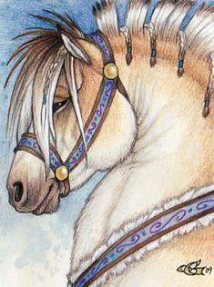 Inga Badge - by Goldenwolf on deviantART - Norwegian Fjord horse