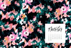 November phone + desktop background wallpapers from May Designs.