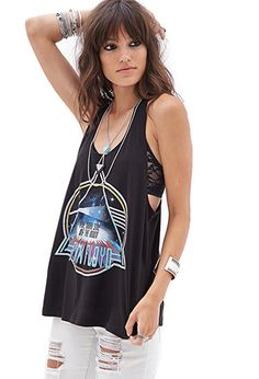 Pink Floyd Cutout Racerback Tank | FOREVER21 - 2000121511