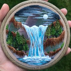 Lake Blossom – where dreams come true - Stickerei Ideen Hand Embroidery Stitches, Embroidery Hoop Art, Hand Embroidery Designs, Cross Stitch Embroidery, Hungarian Embroidery, Indian Embroidery, Embroidery Jewelry, Thread Painting, Thread Art