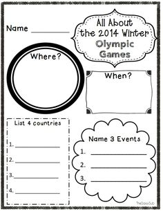20 no prep printables about the winter games Middle School Fashion, 2018 Winter Olympics, Country Names, Summer Barbecue, Winter Games, Practical Gifts, Winter Sports, Olympic Games, Social Skills