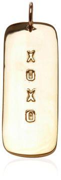Jennifer Fisher 14K Gold XOXO Dog Tag Charm on shopstyle.com