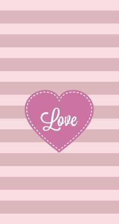 iPhone 5 wallpaper Love pink stripes