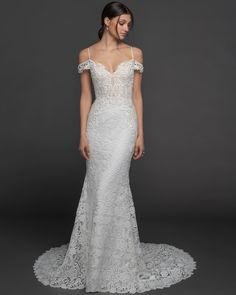 online shopping for Lazaro Hanna Cold Shoulder Lace Trumpet Wedding Dress from top store. See new offer for Lazaro Hanna Cold Shoulder Lace Trumpet Wedding Dress Allure Bridal, Lazaro Bridal, Bridal Gowns, Wedding Gowns, Lace Wedding, Lazaro Dresses, Trumpet Gown, Bridal Boutique, Wedding Suits