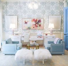 Chandelier baby room nursery decor baby gifts crib and lamb stools bubble chandelier blue print baby room chandelier fan Nursery Room, Nursery Decor, Room Decor, Baby Room, Nursery Ideas, Room Ideas, Home Furnishing Stores, Home Furnishings, Luxury Chandelier