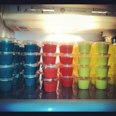 4th of July pudding shots