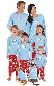 Matching pajamas for the whole family and pets. Select your store Winter wonderland 2 pc pajama sets. Holla daze 2 pc pajama sets. Bearly awake 2 pc pajama sets. SIGN-UP FOR OUR NEWSLETTER FOR A CHANCE TO WIN A FREE FAMILY SET OF 4! Subscribe. free shipping for orders over $
