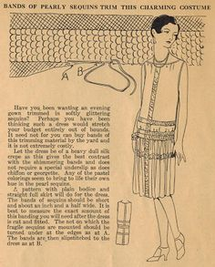 Home Sewing Tips from the 1920s - Trimming Your Dance Frock with Pearly Sequins