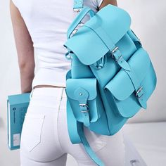Sky - Grafea Leather Backpack