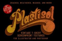 Plastisol: Vintage T-Shirt Textures by TheVectorLab on @creativemarket