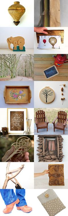 Christmas in wooden colors by Ana Ribeiro on Etsy--Pinned with TreasuryPin.com
